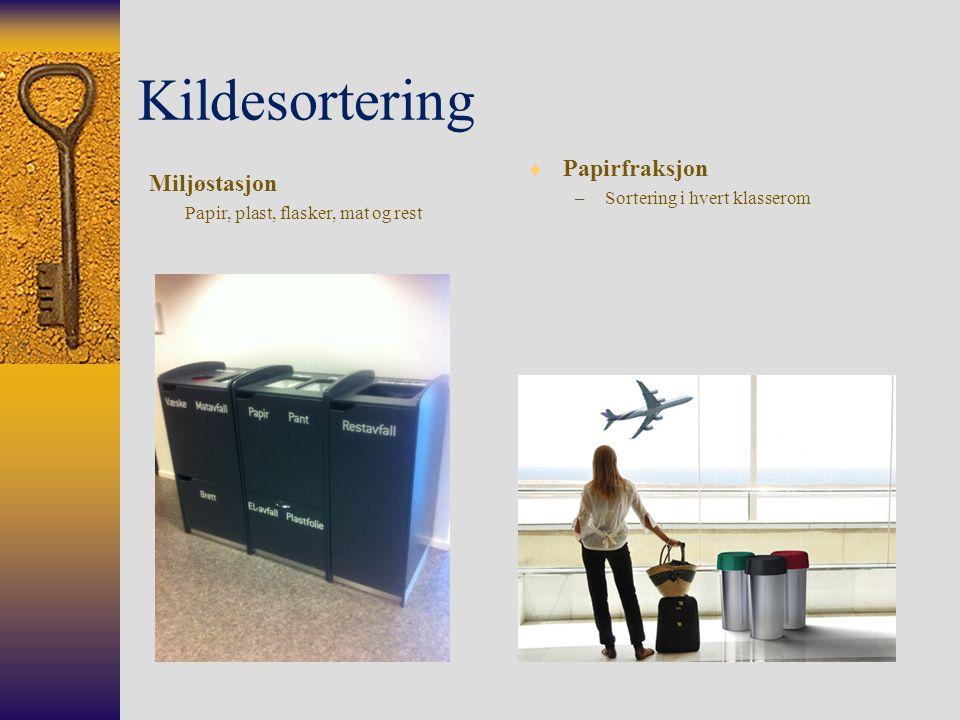 Kildesortering Papirfraksjon Miljøstasjon Sortering i hvert klasserom