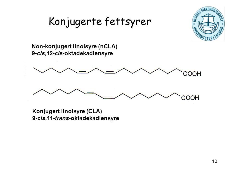 Konjugerte fettsyrer Non-konjugert linolsyre (nCLA)