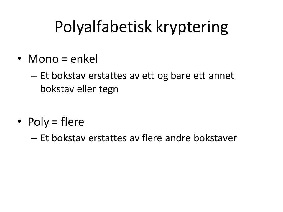 Polyalfabetisk kryptering