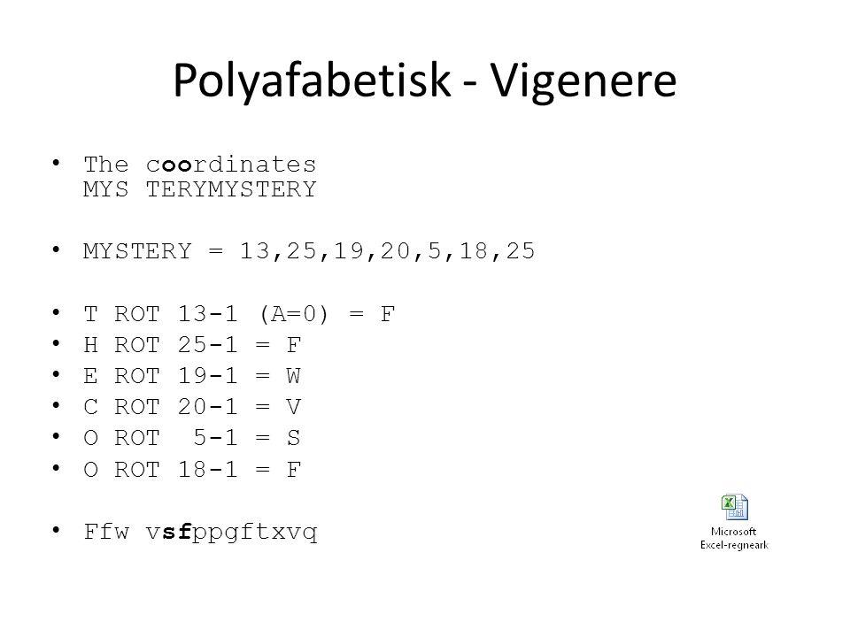 Polyafabetisk - Vigenere