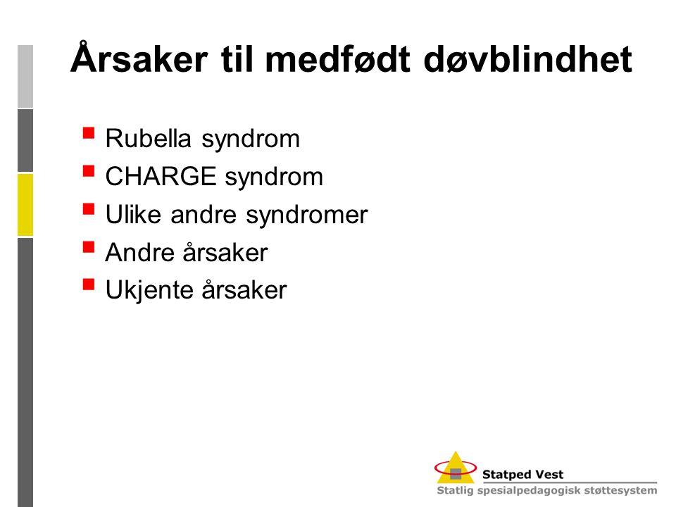 Årsaker til medfødt døvblindhet