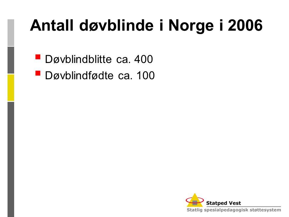Antall døvblinde i Norge i 2006