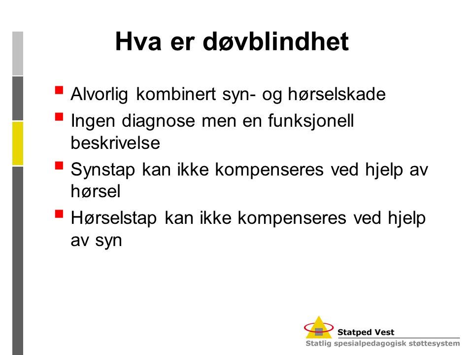 Hva er døvblindhet Alvorlig kombinert syn- og hørselskade