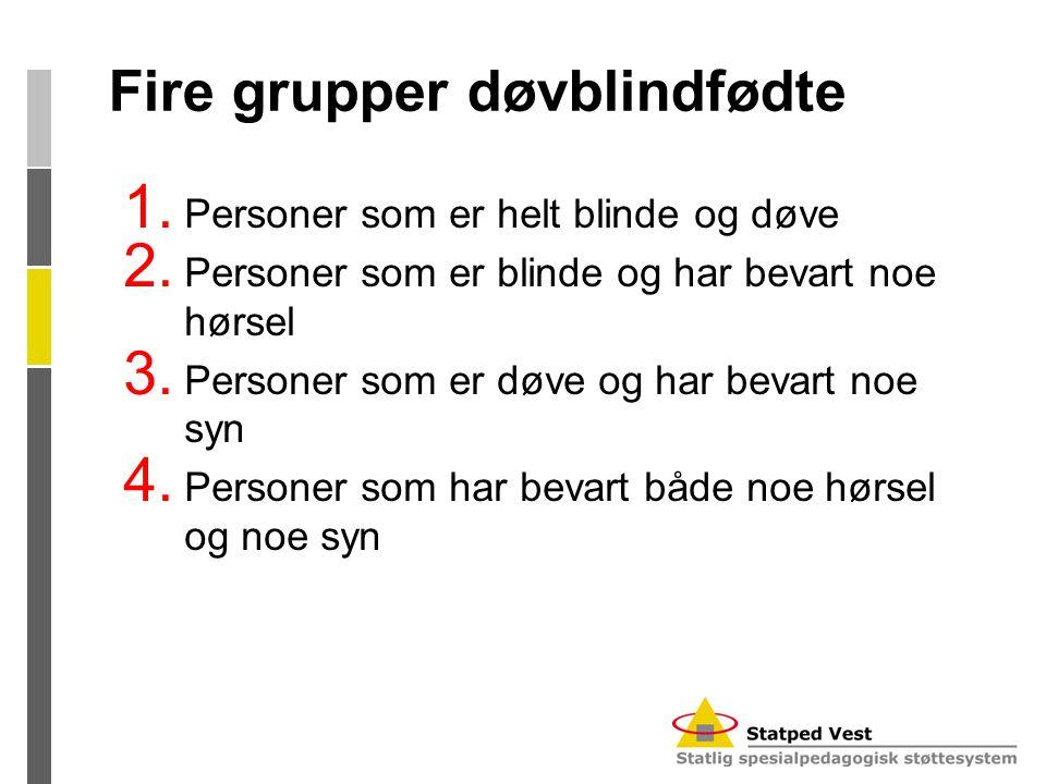 Fire grupper døvblindfødte