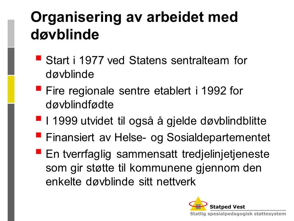 Organisering av arbeidet med døvblinde