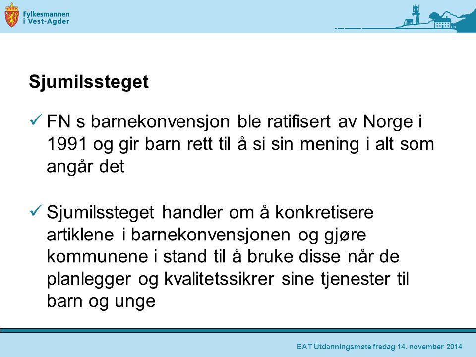 Sjumilssteget FN s barnekonvensjon ble ratifisert av Norge i 1991 og gir barn rett til å si sin mening i alt som angår det.
