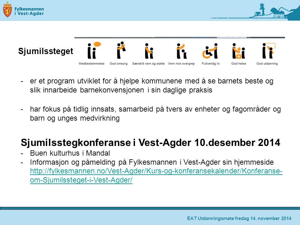 Sjumilsstegkonferanse i Vest-Agder 10.desember 2014