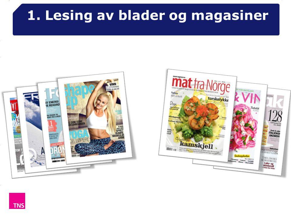 1. Lesing av blader og magasiner