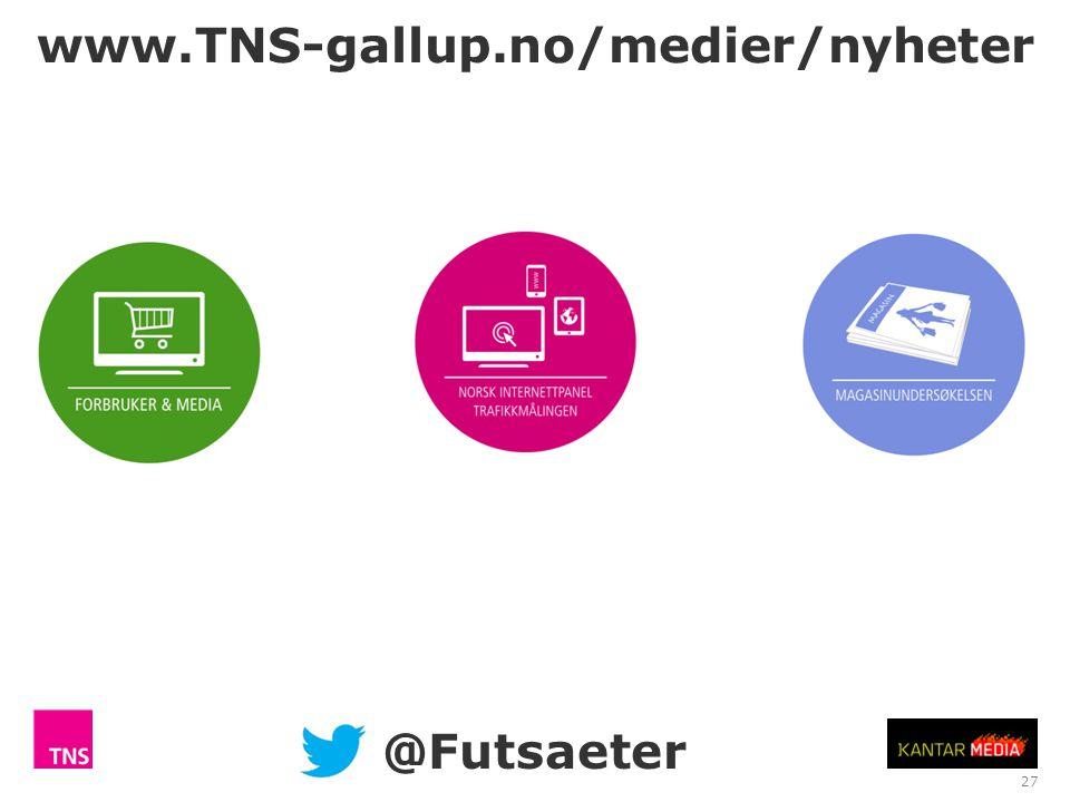 www.TNS-gallup.no/medier/nyheter @Futsaeter