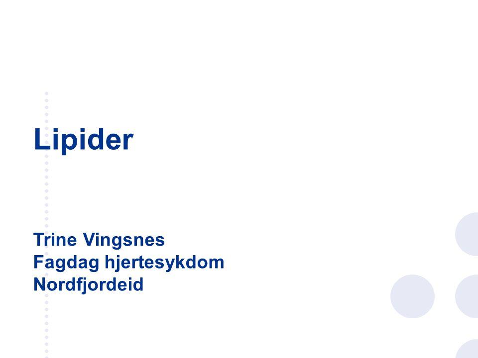 Lipider Trine Vingsnes Fagdag hjertesykdom Nordfjordeid