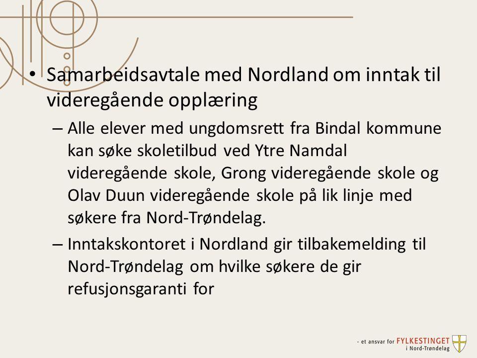 Samarbeidsavtale med Nordland om inntak til videregående opplæring