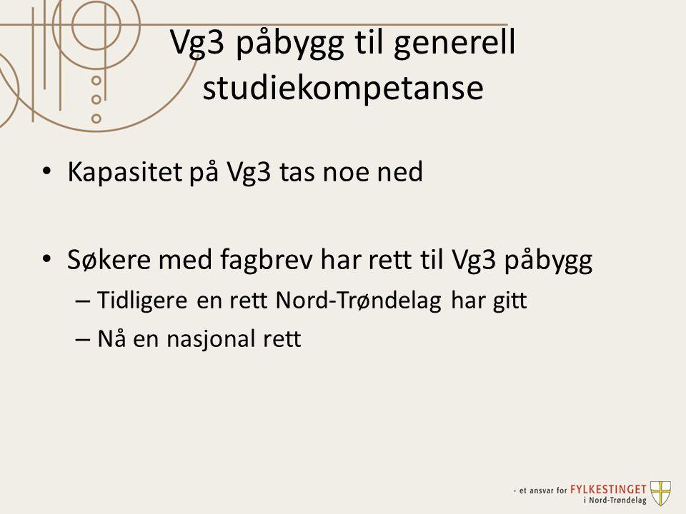 Vg3 påbygg til generell studiekompetanse