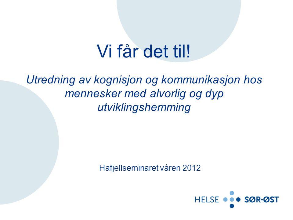 Hafjellseminaret våren 2012