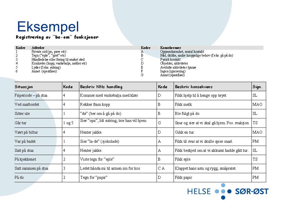Eksempel Leif Olav Bruksområde/formål
