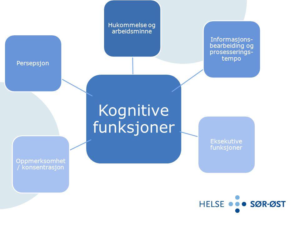 10 Kognitive funksjoner Hukommelse og arbeidsminne