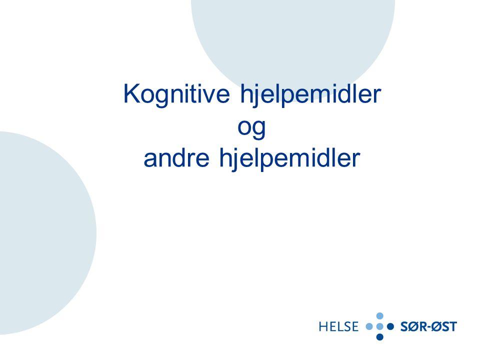 Kognitive hjelpemidler og andre hjelpemidler