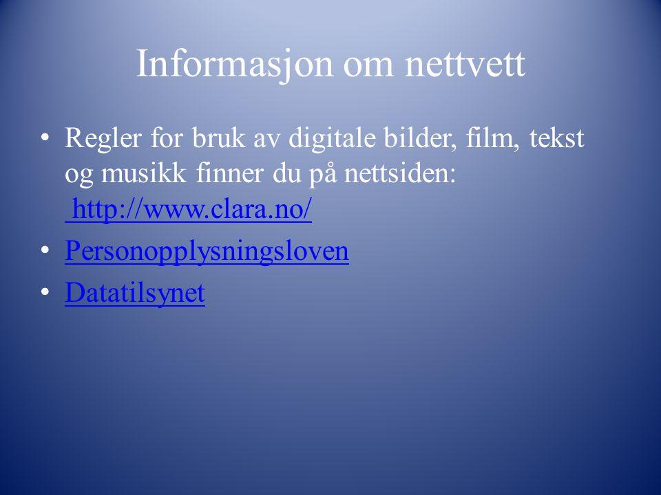 Informasjon om nettvett