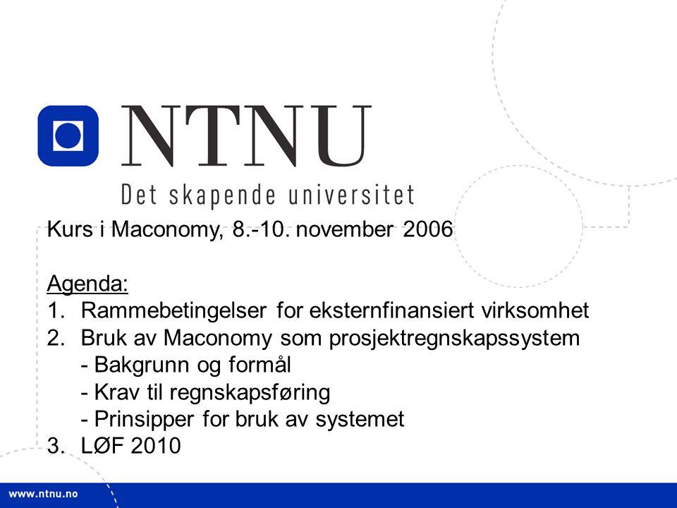 Kurs i Maconomy, 8.-10. november 2006