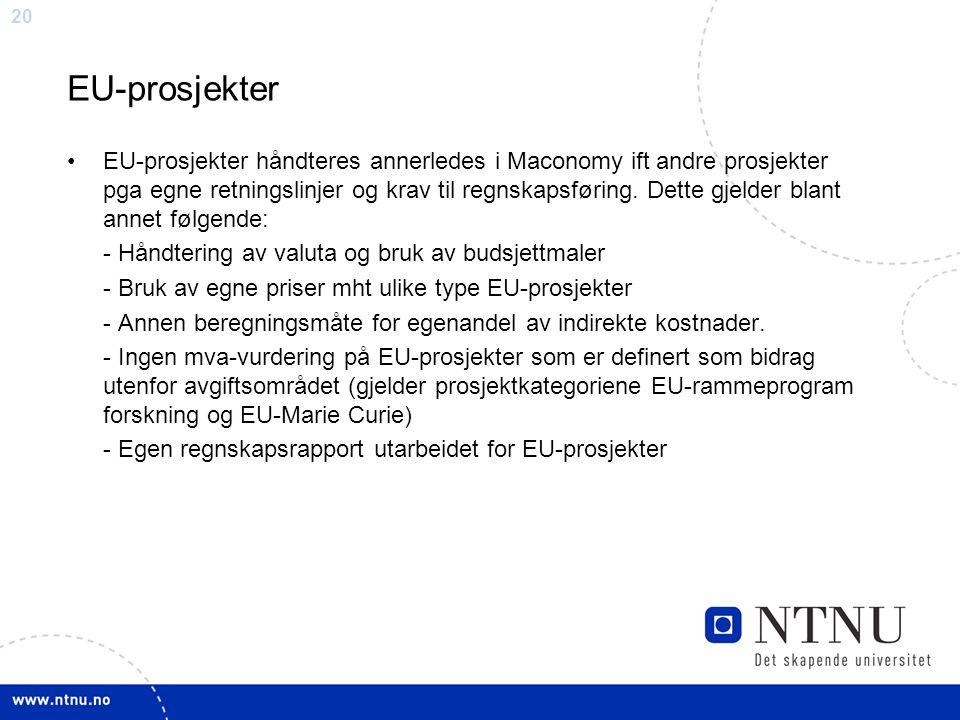 EU-prosjekter
