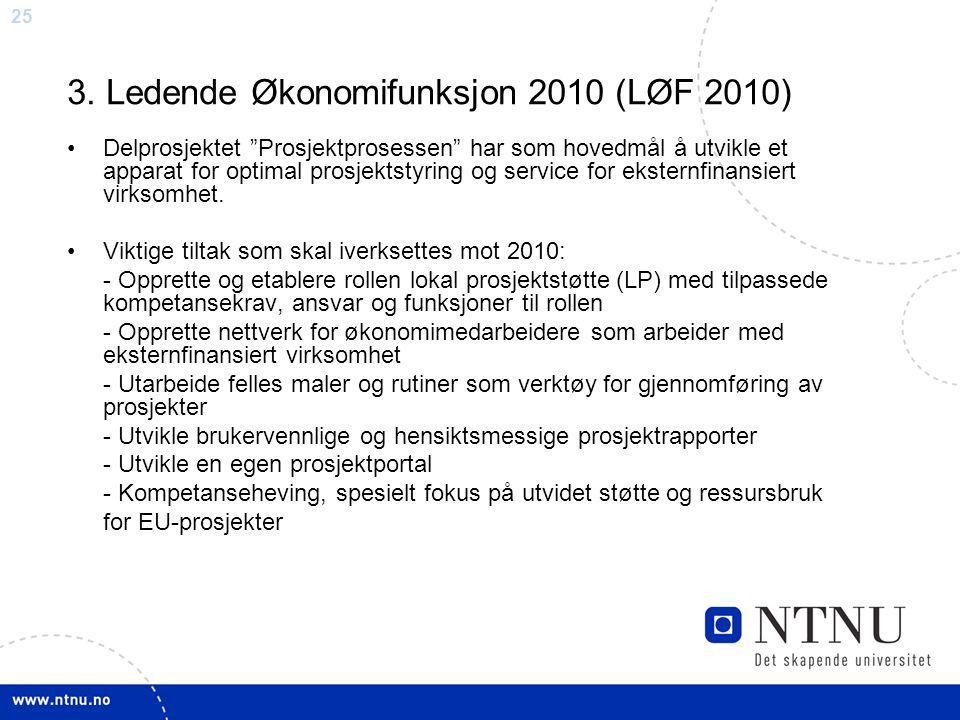3. Ledende Økonomifunksjon 2010 (LØF 2010)