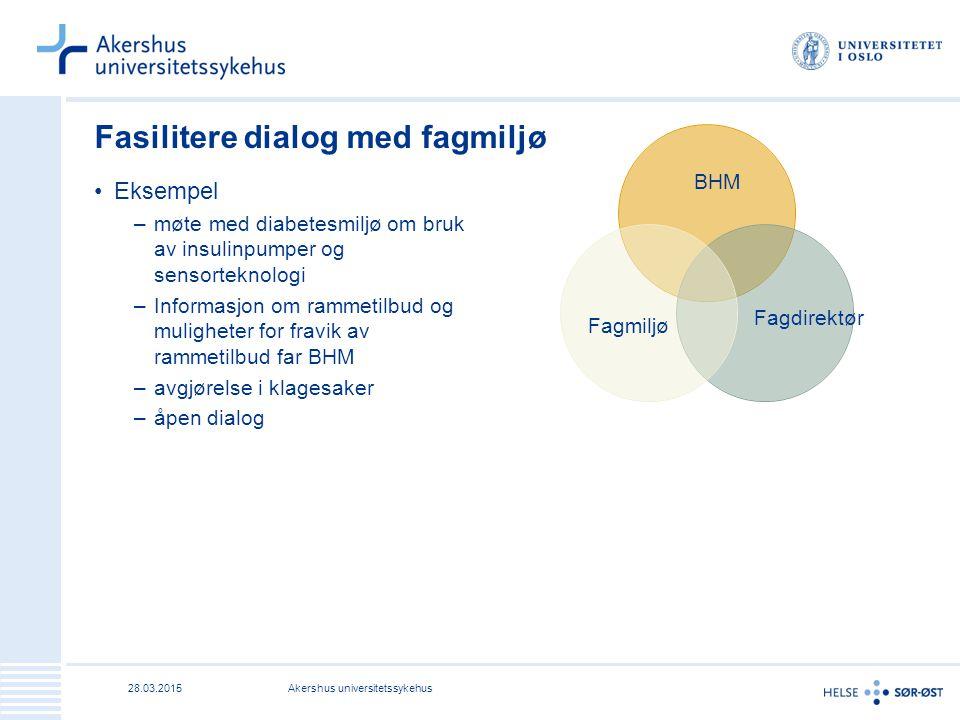 Fasilitere dialog med fagmiljø