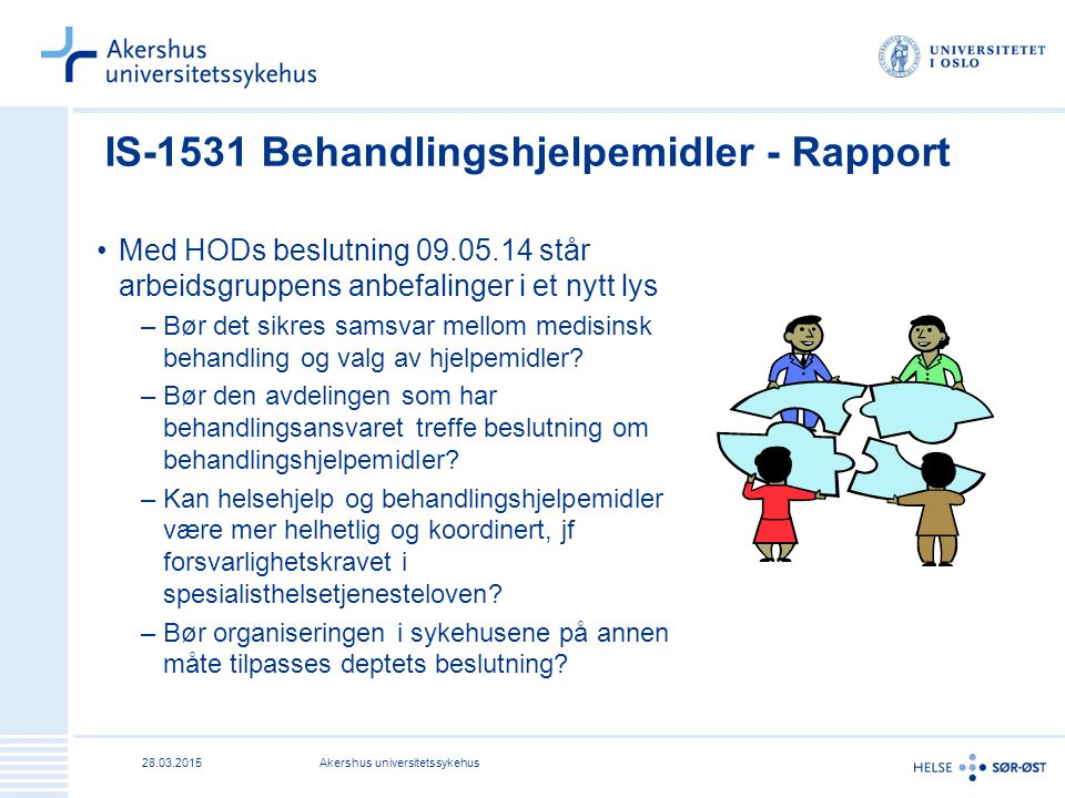 IS-1531 Behandlingshjelpemidler - Rapport