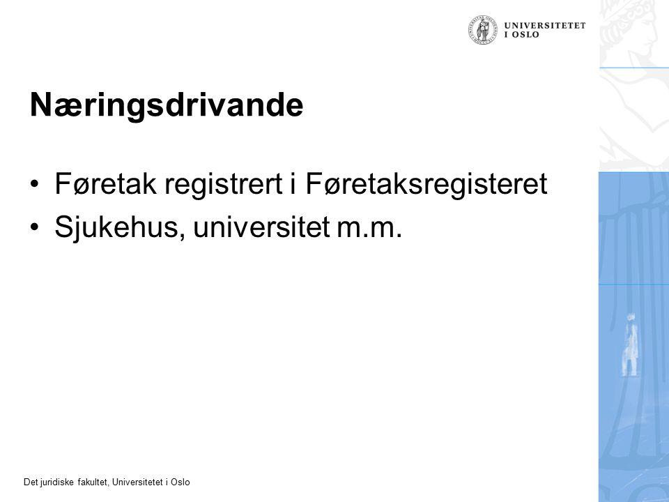 Næringsdrivande Føretak registrert i Føretaksregisteret