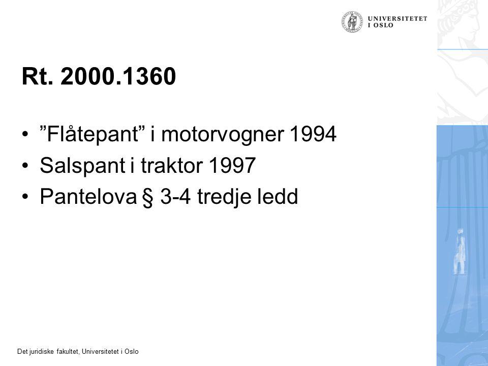 Rt. 2000.1360 Flåtepant i motorvogner 1994 Salspant i traktor 1997