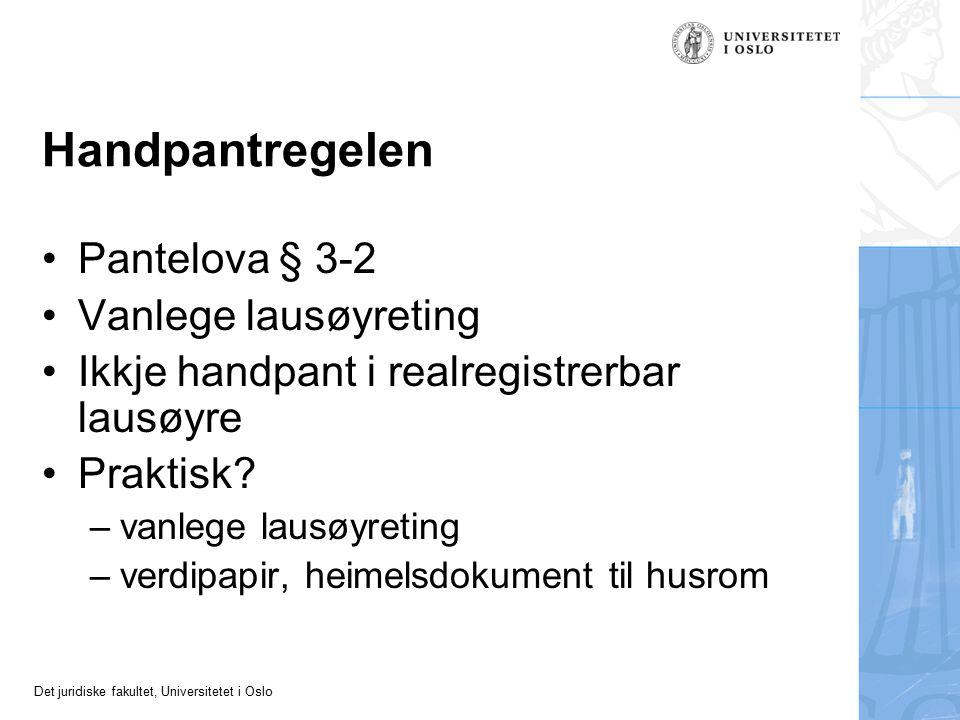 Handpantregelen Pantelova § 3-2 Vanlege lausøyreting