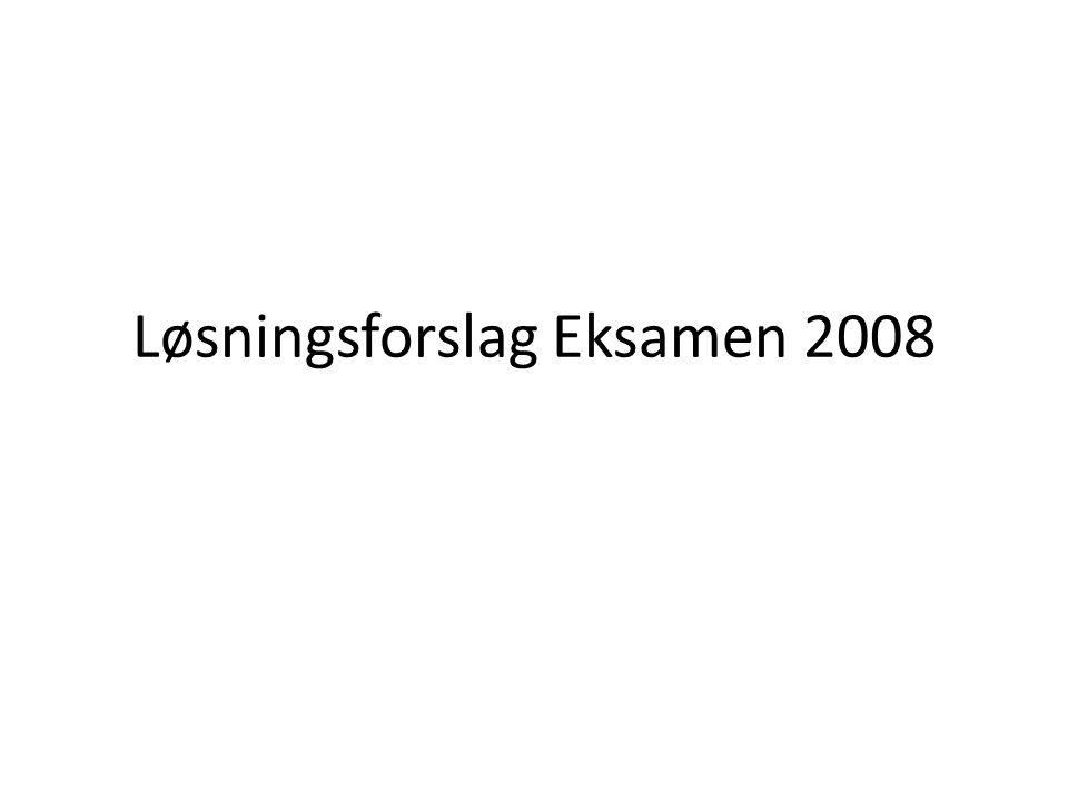 Løsningsforslag Eksamen 2008