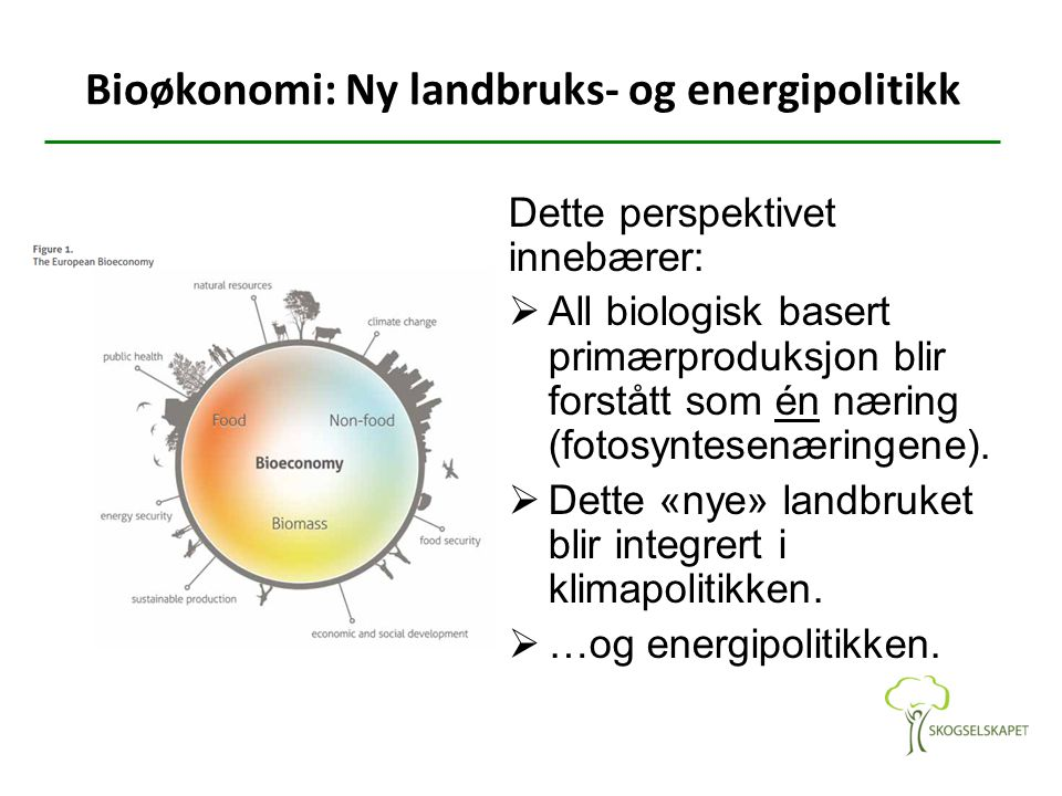 Bioøkonomi: Ny landbruks- og energipolitikk
