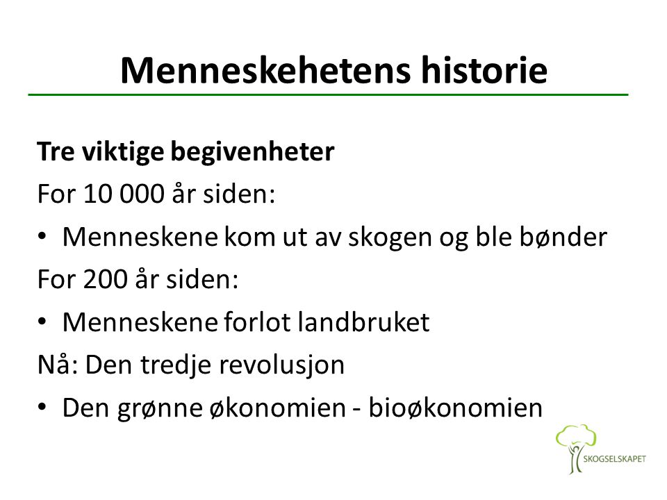 Menneskehetens historie