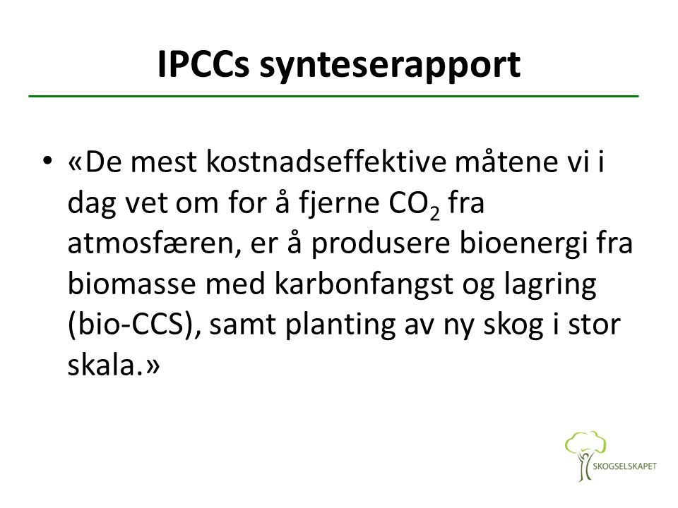 IPCCs synteserapport