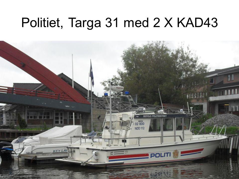 Politiet, Targa 31 med 2 X KAD43