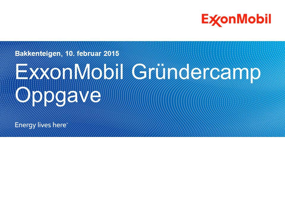 ExxonMobil Gründercamp Oppgave