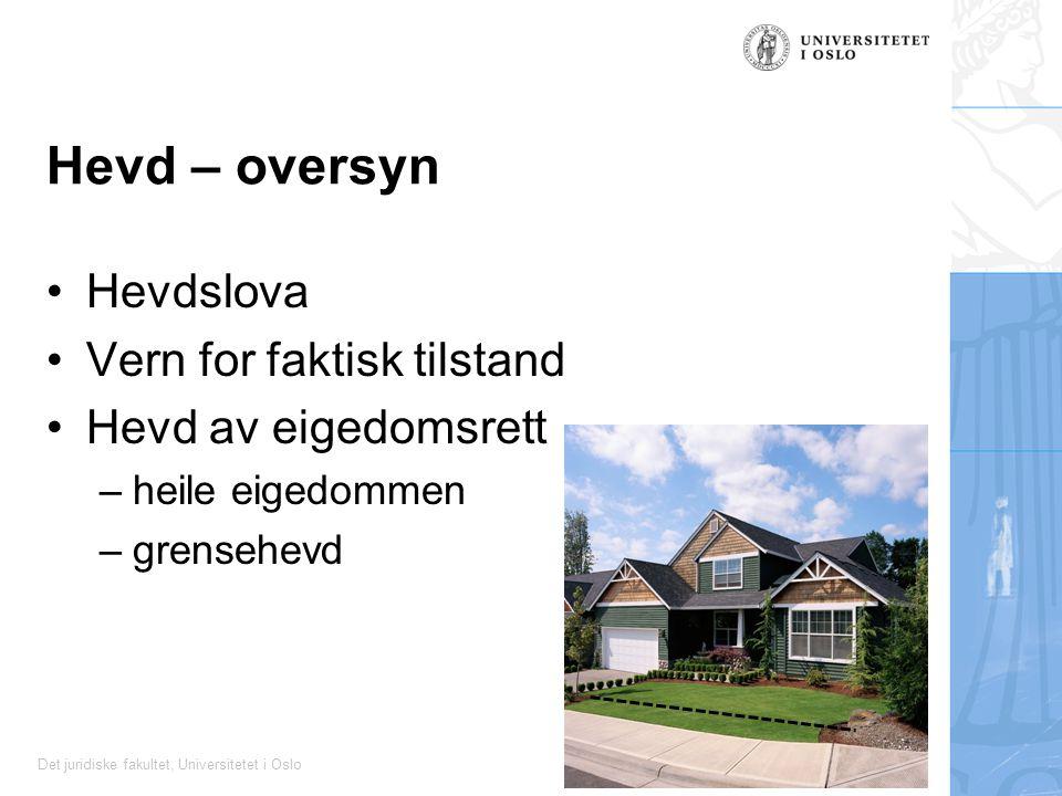 Hevd – oversyn Hevdslova Vern for faktisk tilstand