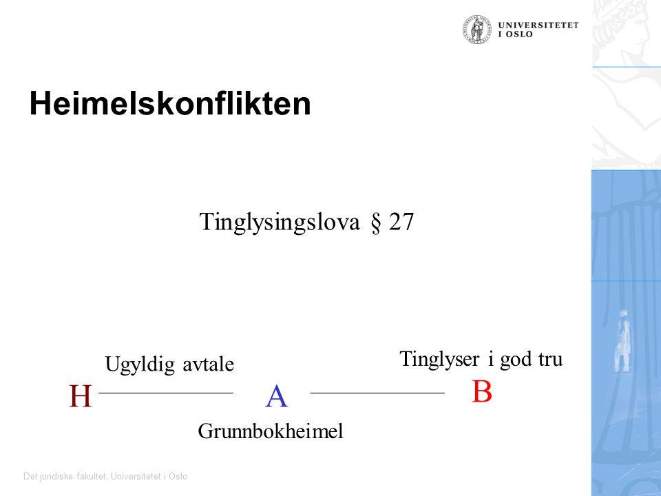 Heimelskonflikten B H A Tinglysingslova § 27 Tinglyser i god tru