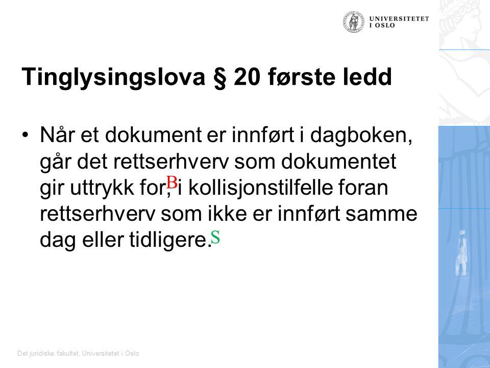 Tinglysingslova § 20 første ledd