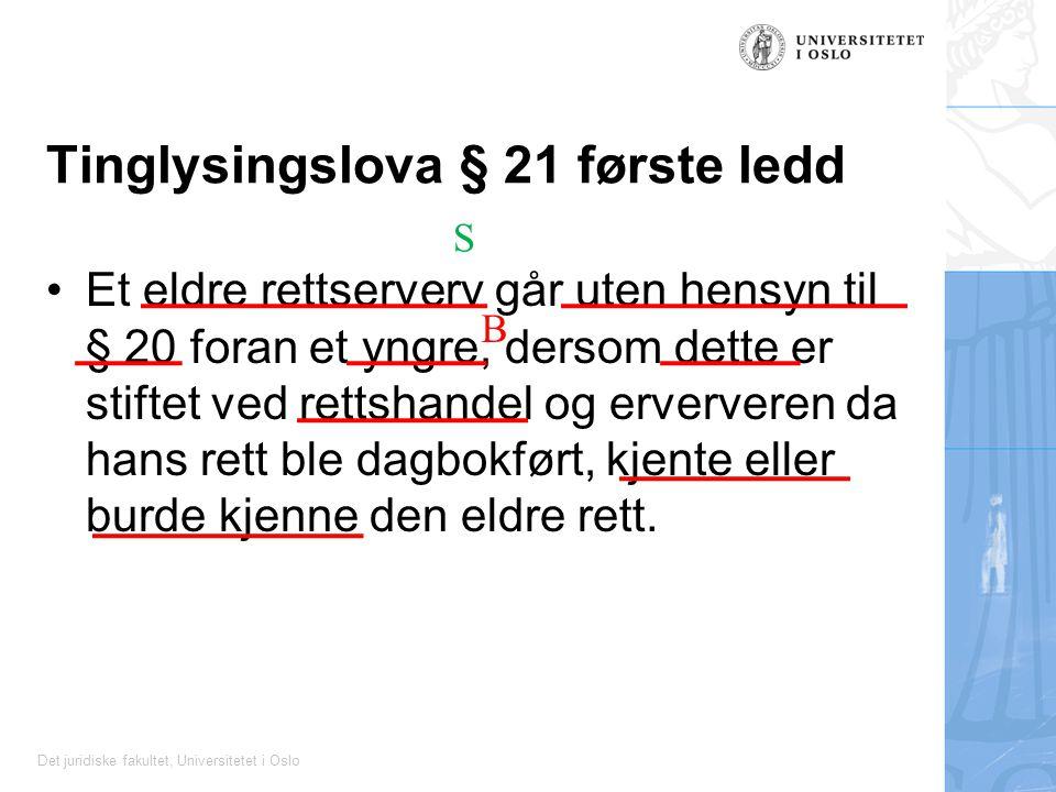 Tinglysingslova § 21 første ledd