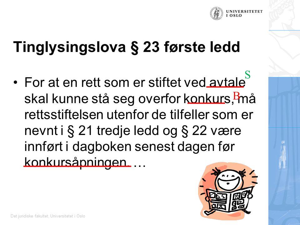 Tinglysingslova § 23 første ledd