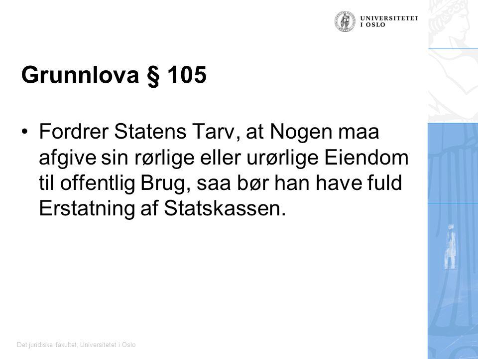 Grunnlova § 105