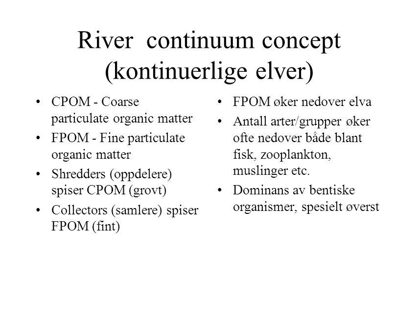 River continuum concept (kontinuerlige elver)