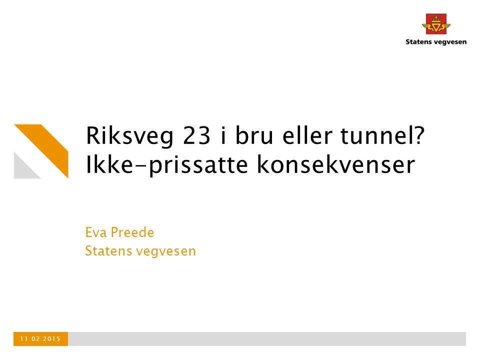 Riksveg 23 i bru eller tunnel Ikke-prissatte konsekvenser