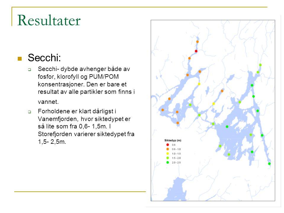Resultater Secchi:
