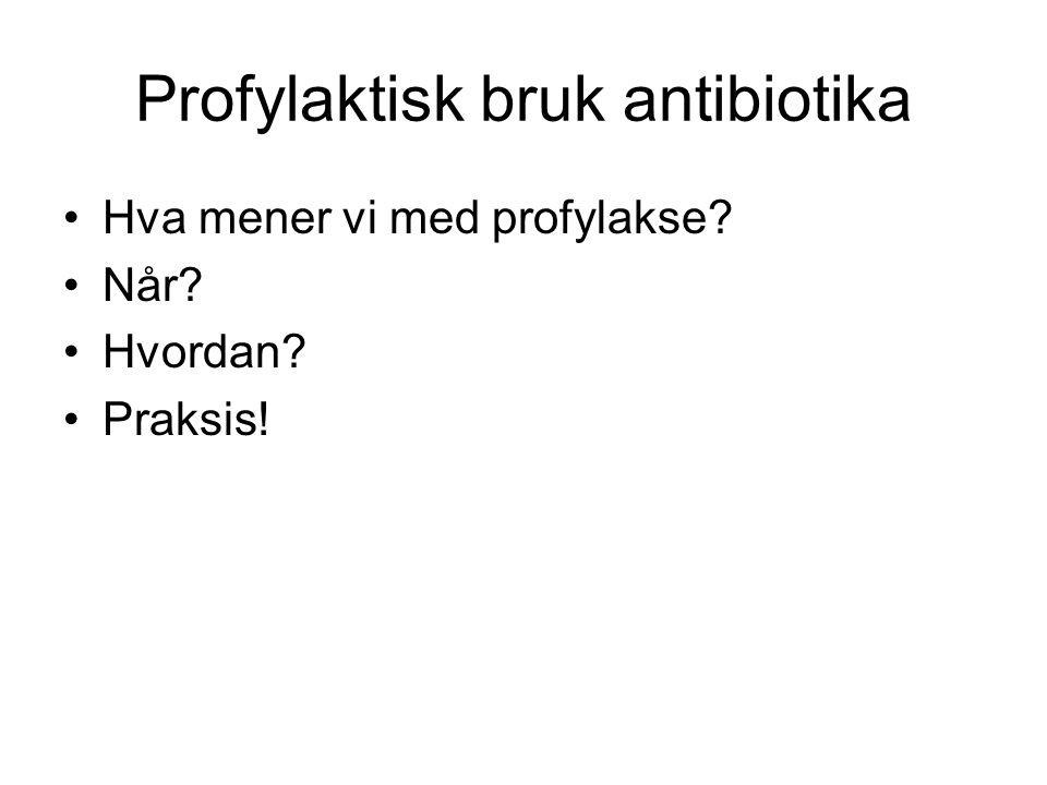 Profylaktisk bruk antibiotika