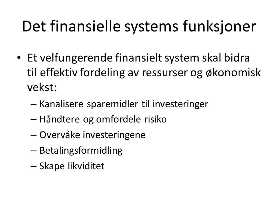 Det finansielle systems funksjoner