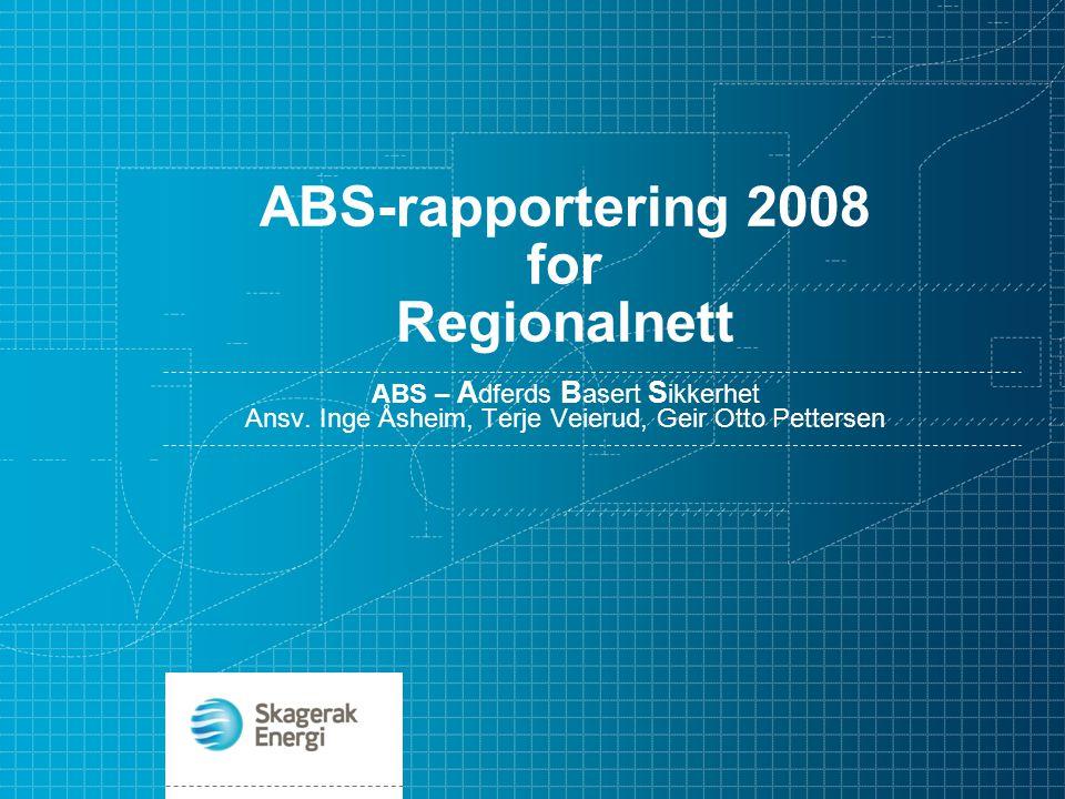 ABS-rapportering 2008 for Regionalnett