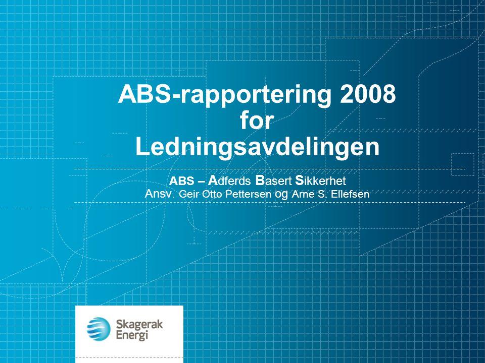 ABS-rapportering 2008 for Ledningsavdelingen