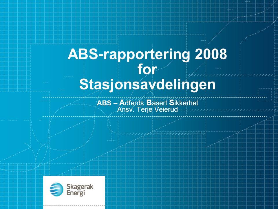 ABS-rapportering 2008 for Stasjonsavdelingen