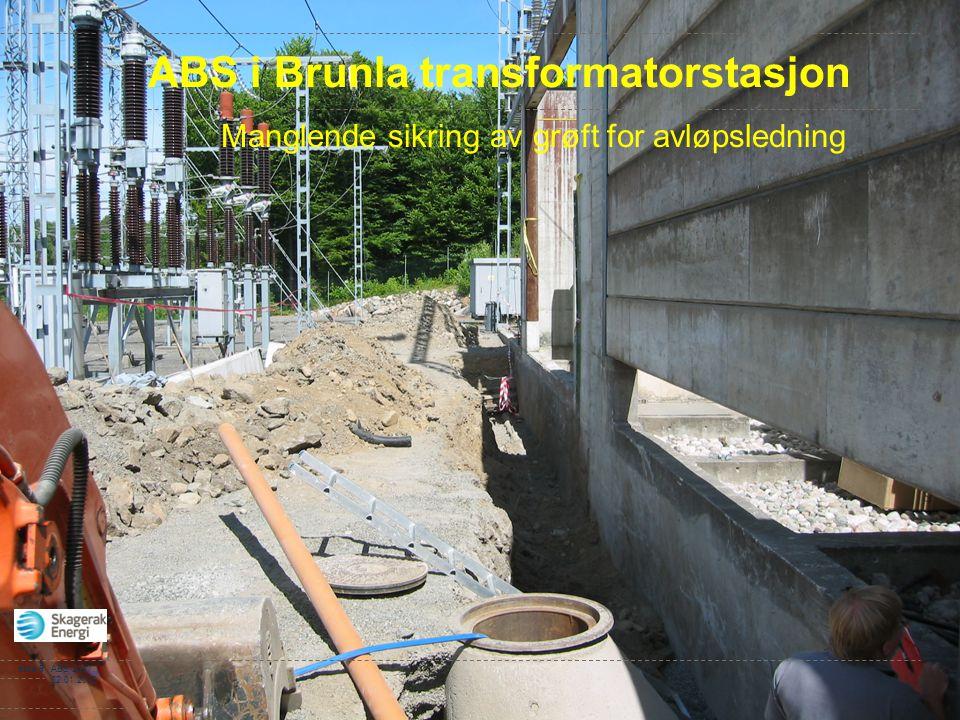 ABS i Brunla transformatorstasjon